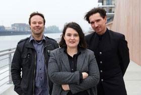 Foto vom Medienkompetenzteam Thorsten Klink, Edina Medra und Stephan Hänke